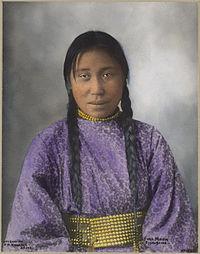 Full Moon -  an Assinboine woman