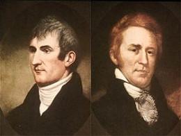 Meriwether Lewis 1774-1809 and William Clark 1770-1838