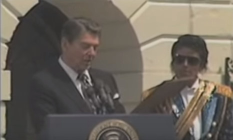 1984 President Regan Presented an Award to Michael Jackson for the donation of the song 'Beat It' in a campaign for Drink/Driving
