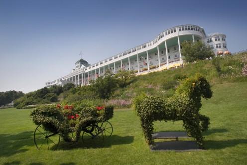 Mackinac Island's landmark Grand Hotel