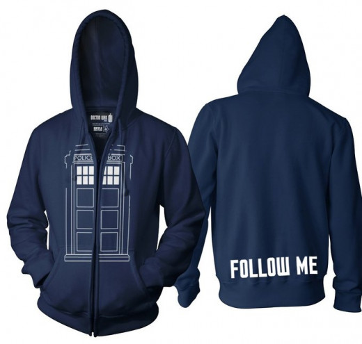 A TARDIS Hoodie is a great way to keep your Doctor Who fan warm and styling in a geeky sort of way.