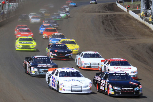 ARCA Stock Cars on Dirt