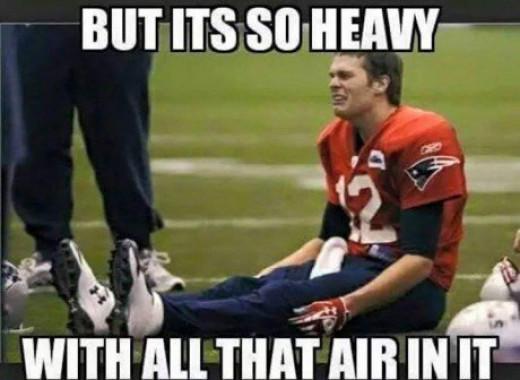 New England QB Tom Brady didn't play so well on Sunday.  I wonder why?