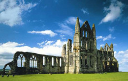 Streoneshealh (Whitby) Abbey, founded by Oswy's sister Hilda with his funds to atone for all the killings in his kingdom