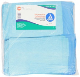 Dynarex Disposable Underpad, 17 inches X 24 inches