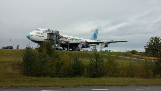 Actually, this badly parked B747 is the Jumbo Stay hotel - cool, isn't it?