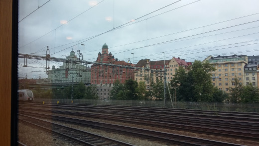 Arriving into Stockholm Central station