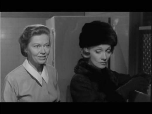 as Mrs. Halbestadt (Pictured with Marlene Dietrich)