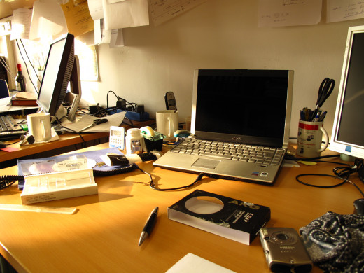 Messy Desk - Get Your Space Organized Before You Study