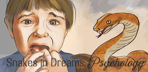 According to psychological theory, a frightening dream about a snake represents childhood trauma.