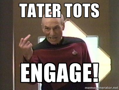 I assume Picard is giving Reigns the finger here. Can't be too sure though