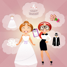 Every bride-to-be needs a competent wedding planner to assist them!