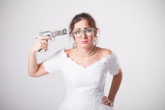 Had this woman had a wedding planner/consultant, she's be a happy camper, or should we say bride!