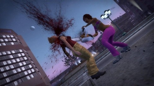 Grand Theft Auto IV Women Brutally Killing Another Women With A Chainsaw