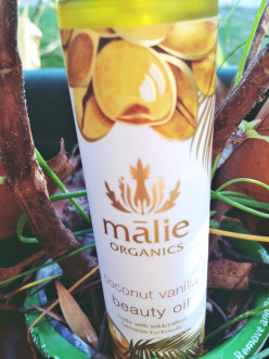 A delicious smelling and great for skin holiday gift: Malie coconut vanilla beauty oil