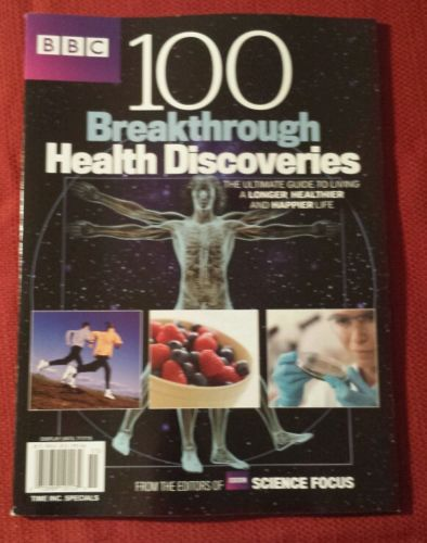 This is the cover of a magazine with 100 breakthrough health discoveries.