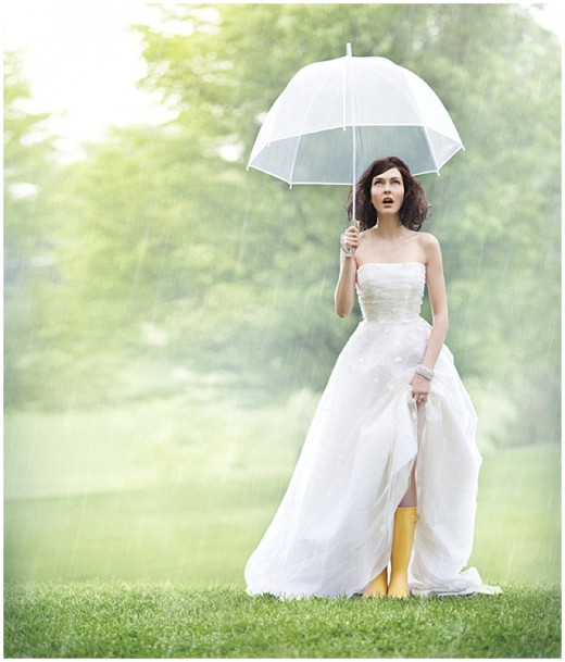 Rain on your wedding day? How ironic. No, it's just an annoying coincidence.