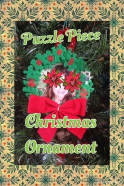 "Christmas ""Kiddie Creation"": Puzzle Piece Christmas Ornament"