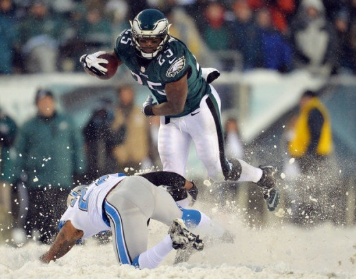 RB LeSean McCoy gaining an Eagles franchise record 217 yards in a single game last season at the Linc