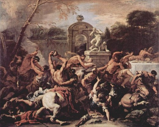 The Centauromachy - Sebastiano Ricci (1659–1734) - PD-art-100