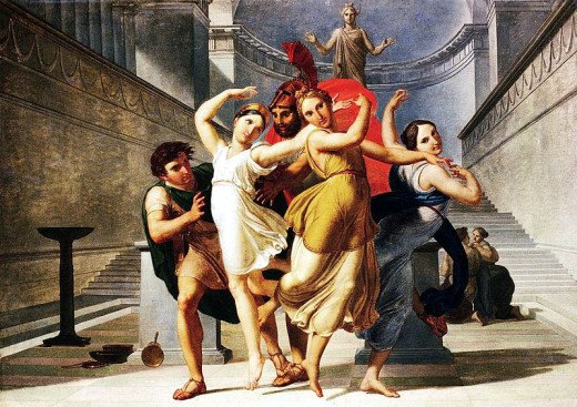 The Abduction of Helen by Pirithous and Theseus - Pelagio Palagi (1775-1860) - PD-art-100