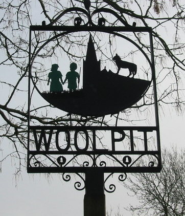 The Woolpit village sign