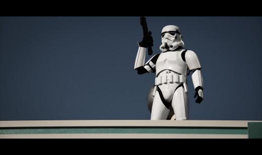 The Stormtrooper commands a sense of permanence