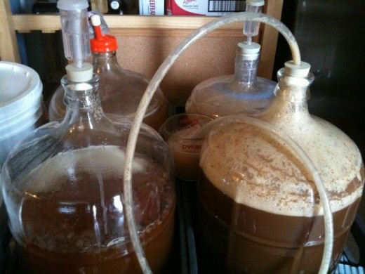 Fermentation with blow off hoses
