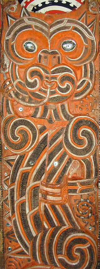 A depiction of the Taniwha