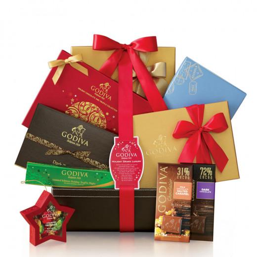 Godiva Grand Holiday Luxury Basket