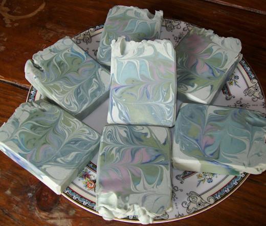 Misty Glen Soap, Made with Soap #3 Recipe