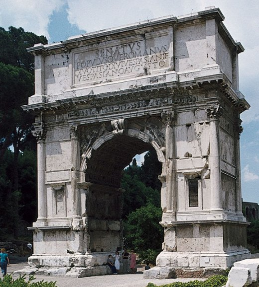 The Arch of Trajan were constructed by Emperors in Rome and its major cities to commemorate great military triumphs.