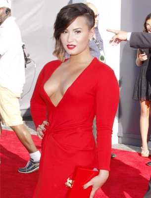 Demi Lovato one of the most sexiest women in 2015 wearing red