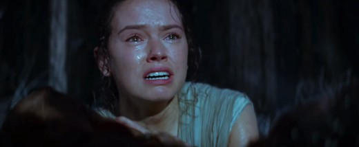 Rey crying over a body in new Star Wars trailer