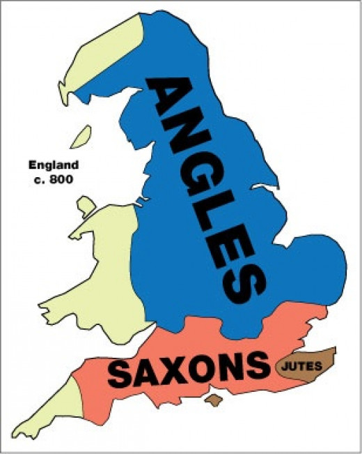 The blue, the pink and the brown - identity matters - how much? The Saxons were pushed south under Penda in the 7th to Hwicce, and when Offa's Mercia expanded in the 8th Century AD as far as the Thames. By Aelfred's time some was taken back