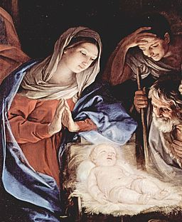 Painting of the Nativity by Guido Reni