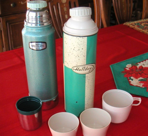 A thermos of hot coffee was always on board for a quick pick-me-up in the afternoon.