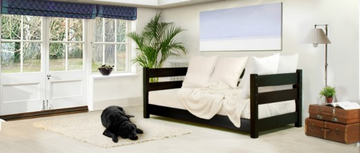 Pictured: A typical day bed design, they're often placed in the living room or large bedrooms.