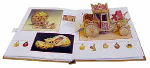 One of the pages from Imperial Surprises: A Pop-Up Book of Faberge's Masterpieces by Margaret Kelly - Image from http://broward.org/Library/images/lii13943.jpg