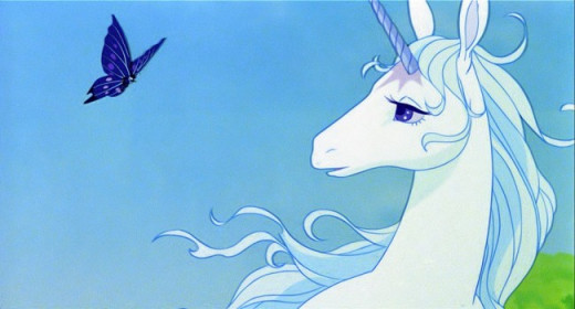 OK, her blue hair is unique but only because it belongs to the last unicorn.