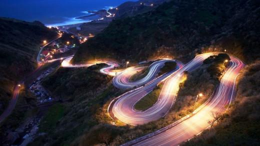 tortuous road
