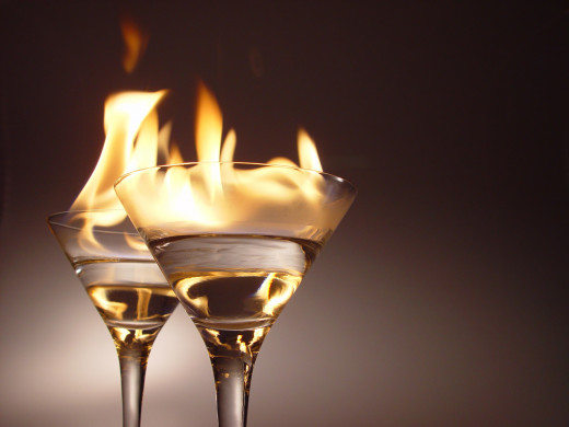 Inflammable drinks