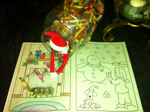 Jingle loves to color.