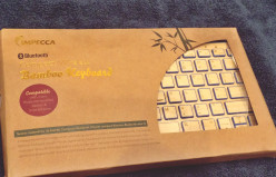 Impecca bamboo Bluetooth keyboard: A great holiday gift that may come to your rescue!