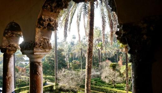 The Garden in the Alcazar in Seville