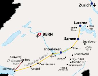 Golden Pass Route