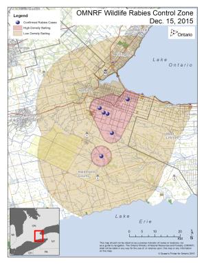 OMNRF Rabies Control Zone