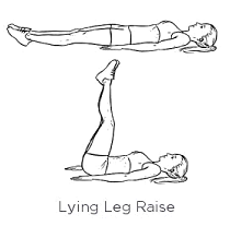Place you back flat against your mat, slowly and controlled bring your legs straight up, lower back down to complete one rep.