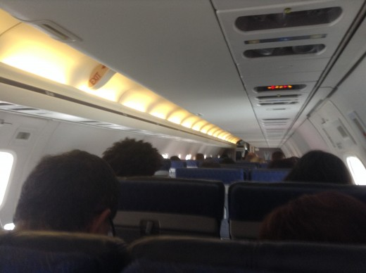 This is what flying American Airlines looks like... Good if you like sweaty people next to you and turbulence.