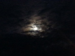 I look at the moon, and think then write at night.
